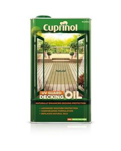Cuprinol UV Guard Decking Oil 5 Litres Natural Oak