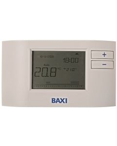 Baxi Plug-In Receiver 7 Day RF Digital Single Channel Programmable Room Thermostat - 7658789