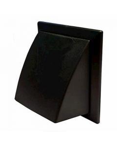 Polypipe Domus Gravity Flap/Round Spigot Black - 44900BK