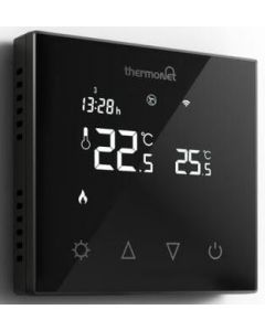 Comfortzone Thermotouch Black Glass Programmable Thermostat - 5226
