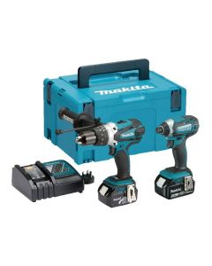 Makita DLX2145TJ Twin Kit (DHP458 & DTD152) c/w 2 x 5AH Batteries ***WHILE STOCKS LAST***
