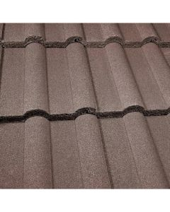 Marley Double Roman Roof Tiles-Antique Brown