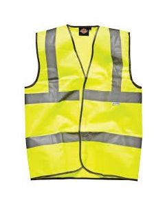 Dickies Highway Safety Waistcoat EN471 Class 2 SA22010 Saturn Yellow