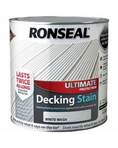 Ronseal Ultimate Protection Decking Stain 2.5 Litres White Wash