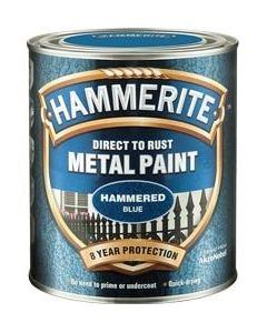 Hammerite Direct to Rust Metal Paint - Hammered Finish 750ml Black