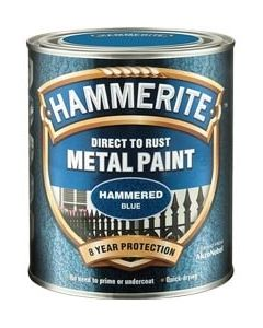 Hammerite Direct to Rust Metal Paint - Hammered Finish-250ml-Silver