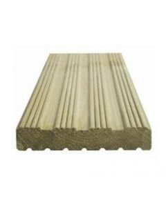 Dual Sided Tanalised Decking 32x125mm Green 3.9m