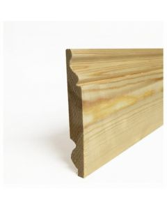 25X125mm Dual Softwood Skirting Torus/Ogee fin sizes 20x119mm