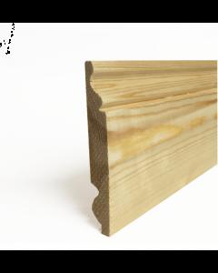 Dual Torus\Ogee Redwood Skirting 25x125mm