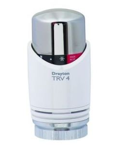 Drayton TRV4 Integral Sensor Head WH/CP 15mm - 07 25 006