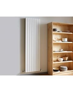 Vogue Fly Line Vertical Double Panel Towel Rail White 1800x376mm