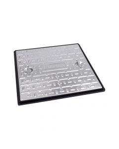 Galvanised Single Seal Manhole Cover & Frame 600x600mm Pedestrian