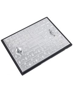 Galvanised Single Seal Manhole Cover & Frame 600x450mm 10T