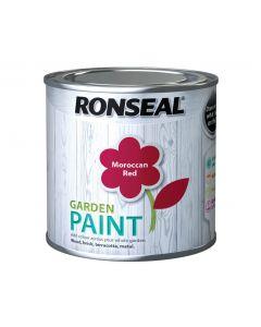Ronseal Garden Paint-250ml-Moroccan Red