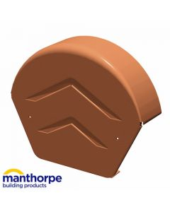 Manthorpe GDV-END-R Dry Verge Half Round Ridge End Cap Brown