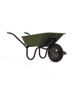 Haemmerlin 5000 GO Polypropylene Wheelbarrow with Pneumatic Tyre Green 90L