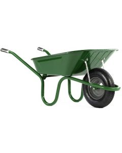 Haemmerlin 1041 Original Wheelbarrow with Pneumatic Tyre Green 90L