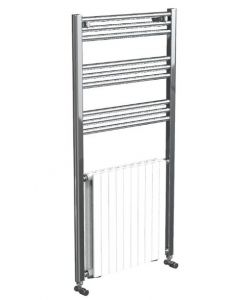 Vogue Harmonique Towel Rail White/Chrome 1200x500mm