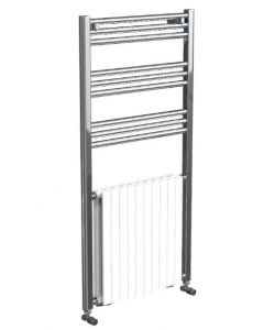 Vogue Harmonique Towel Rail White/Chrome 1200x600mm