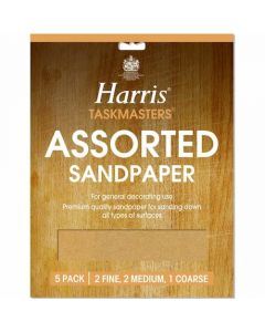 Harris Pack of 4 Sheets Coarse Sandpaper