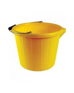 Heavy Duty Builders Bucket Yellow 3 Gallon