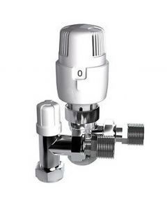 Inta i-therm Angle TRV/LS Pack White/Chrome 15mm