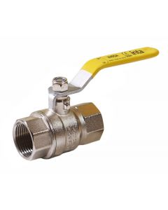22mm Universal Gas/Water Full Bore Ball Lever Valve PN25 (supplied with Yellow, Blue & Red Sleeve)