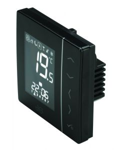 JG Speedfit Aura UFH 230v Thermostat & H/W Black - JGSTAT2B