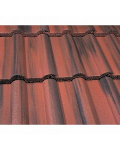 Marley Double Roman Roof Tiles-Dark Red Granular