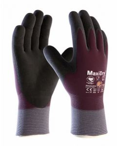 MaxiDry Zero Fully Coated Thermal K/W Work Gloves - Size 8 (Medium)