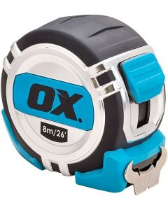 Ox Pro Heavy Duty 8m Tape Measure Metric/Imperial - OX-P028708