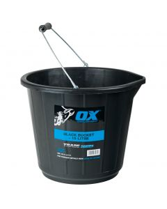 Ox Trade 15L Black Bucket Ox-T110715