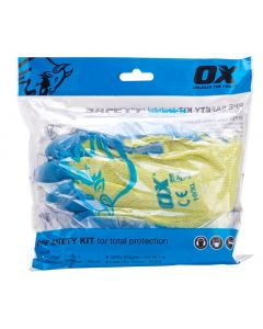 OX PPE Safety Kit (FFP2V Respirator, Goggles, Ear Plugs, Pro Latex Glove)