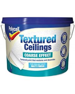 Polycell Textured Ceilings 2.5L-Coarse Effect Matt