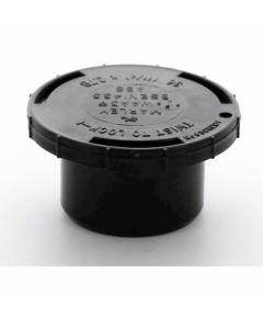 Hunter Solvent Weld ABS Access Plug Black 32mm - WAA3B
