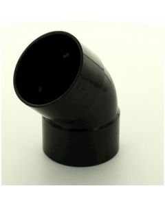 Hunter Solvent Weld ABS 45 Deg Bend Black 50mm - WAB51B