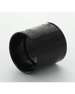 Hunter Solvent Weld ABS Straight Coupling Black 40mm - WAC4B