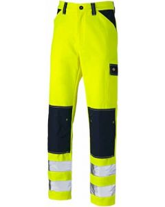 Dickies Everyday Hi Vis Two Tone Trousers Yellow - SA247