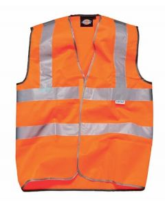 Dickies Highway Safety Waistcoat EN471 Class 2 Orange Size S - SA30310