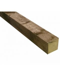 100x100mm Sawn Carcassing Green (Tanalised) Fence Post 2.1m