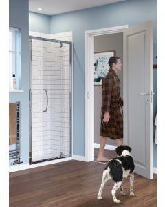 Lakes Classic Semi Framed Pivot Door Silver 1000x1850mm - LKVP100S
