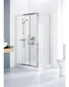 Lakes Classic Semi Framed Side Panel Silver 900x1850mm - LWRP090S