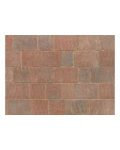 Stonemarket Trident Rumbled Concrete Block Paving-Sierra-160x160x50mm