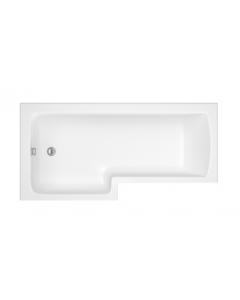 Trojancast Reinforced Solarna L-Shaped Shower Bath 1700x850x700mm - No Tap Holes (Left Hand)