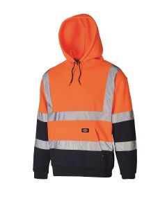Dickies High Visibility Two Tone Hoodie SA22095 Orange/Navy XXL