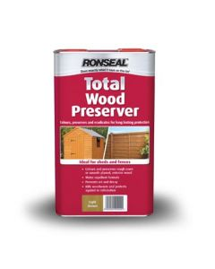 Ronseal Total Wood Preserver 5L-5 Litres Black