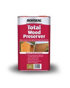 Ronseal Total Wood Preserver 5L-2.5 Litres-Green