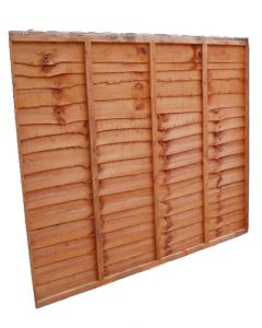 Waney Lap Fencing Panel 1828x609mm Treated
