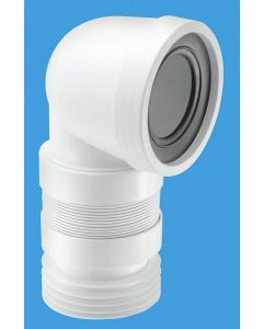 Mcalpine WC-CON8F Flexible Bent WC Connector (220-400mm)