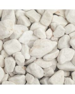 LRS 20kg Poly Bag White Pebbles 20-40mm
